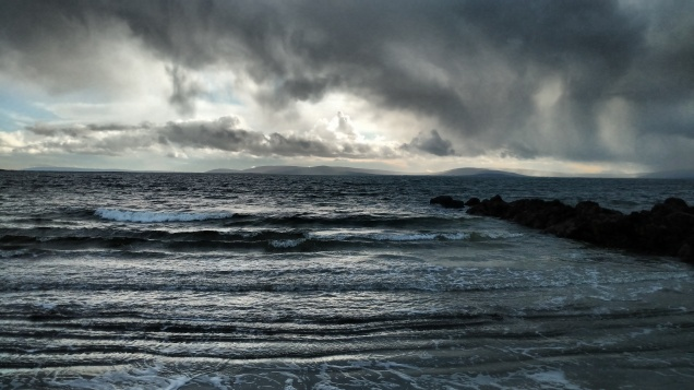 Caught this dramatic seascape image during a walk in Salthill