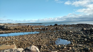 Low tide along Galway Bay's north shore