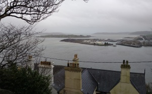 Cobh harbor, from a ridge in the city.