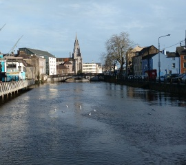 The River Lee through Cork.